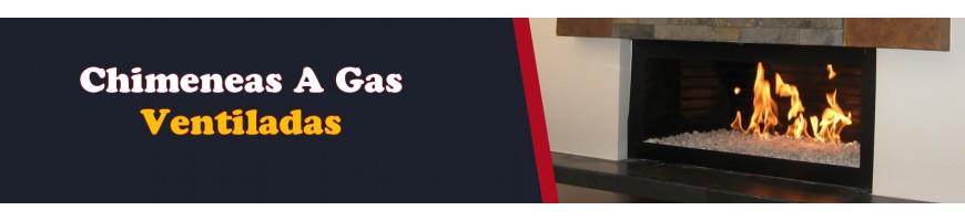 Chimeneas a Gas Tradicional Loft Ventiladas Manual y Control Remoto